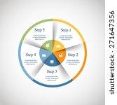 vector circle infographic.... | Shutterstock .eps vector #271647356
