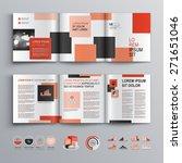 white brochure template design... | Shutterstock .eps vector #271651046