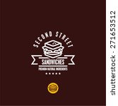 sandwich icon. sandwiches menu... | Shutterstock .eps vector #271653512