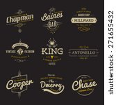 vector vintage labels.... | Shutterstock .eps vector #271655432