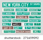 new york street signs | Shutterstock .eps vector #271659092