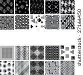 black and white seamless texture | Shutterstock .eps vector #27166450
