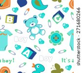 colorful baby boy seamless... | Shutterstock .eps vector #271680266