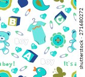 colorful baby boy seamless... | Shutterstock .eps vector #271680272