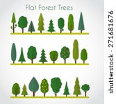 forest elements   trees and fir ... | Shutterstock .eps vector #271681676