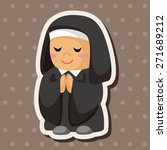 pastor and nun theme elements | Shutterstock .eps vector #271689212