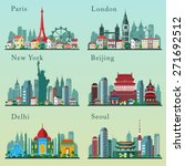 cities skylines set. vector... | Shutterstock .eps vector #271692512