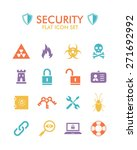 vector flat icon set   security  | Shutterstock . vector #271692992
