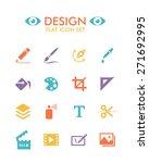 vector flat icon set   design