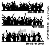 set of group peoples vector | Shutterstock .eps vector #27169603