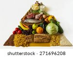 food pyramid isolated on white... | Shutterstock . vector #271696208