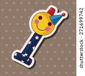 birthday horn theme elements | Shutterstock .eps vector #271699742