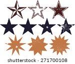 distressed grunge star design...