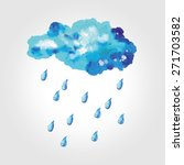 wonderful clouds and raindrops... | Shutterstock . vector #271703582