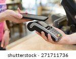 customer paying with nfc... | Shutterstock . vector #271711736