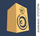 speaker vector | Shutterstock .eps vector #271713746
