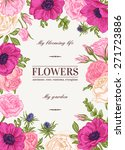 floral vector background with... | Shutterstock .eps vector #271723886