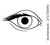 contour of eye | Shutterstock .eps vector #271730492