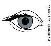 grey eye | Shutterstock .eps vector #271730582