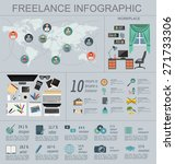 freelance infographic template. ... | Shutterstock .eps vector #271733306