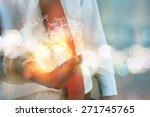 businessman holding earth | Shutterstock . vector #271745765