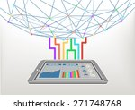 cloud computing connected to... | Shutterstock .eps vector #271748768