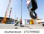 Hook Of A Mobile Lifting Crane...