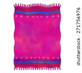 watercolor red beach towel with ... | Shutterstock .eps vector #271756976
