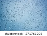 rain drops background  water... | Shutterstock . vector #271761206