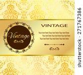 vintage vector pattern. hand... | Shutterstock .eps vector #271767386