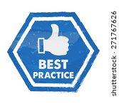 best practice with thumb up... | Shutterstock .eps vector #271767626
