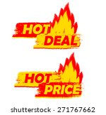 hot deal and price on fire... | Shutterstock .eps vector #271767662