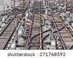 Rail Tracks In Depot. Kiev ...