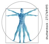 vitruvian human or man as a... | Shutterstock . vector #271769495