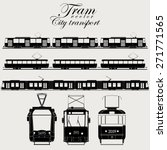 tram icon set  urban transport  ... | Shutterstock .eps vector #271771565