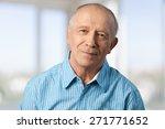 senior adult  men  depression. | Shutterstock . vector #271771652
