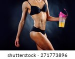 athletic girl with a vitamin... | Shutterstock . vector #271773896
