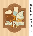 retro banner with ice cream   Shutterstock .eps vector #271775552