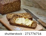 Fresh Dark Rye Bread With Seed...