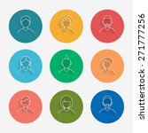 thin lined faces icons set. | Shutterstock .eps vector #271777256
