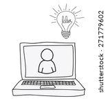 idea design over white... | Shutterstock .eps vector #271779602