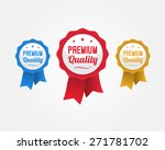 premium quality ribbons | Shutterstock .eps vector #271781702