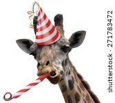 Funny Giraffe Party Animal...