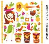 a vector illustration of 1960s... | Shutterstock .eps vector #271783805