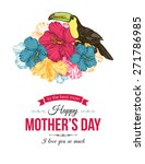 happy mothers day typographical ... | Shutterstock .eps vector #271786985