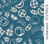 seamless tomato pattern. food... | Shutterstock .eps vector #271794176