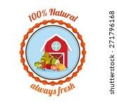 organic food design over white... | Shutterstock .eps vector #271796168