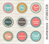 vintage labels template set ... | Shutterstock .eps vector #271801328