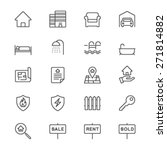 real estate thin icons