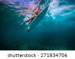 picture of surfing a wave.under ... | Shutterstock . vector #271834706